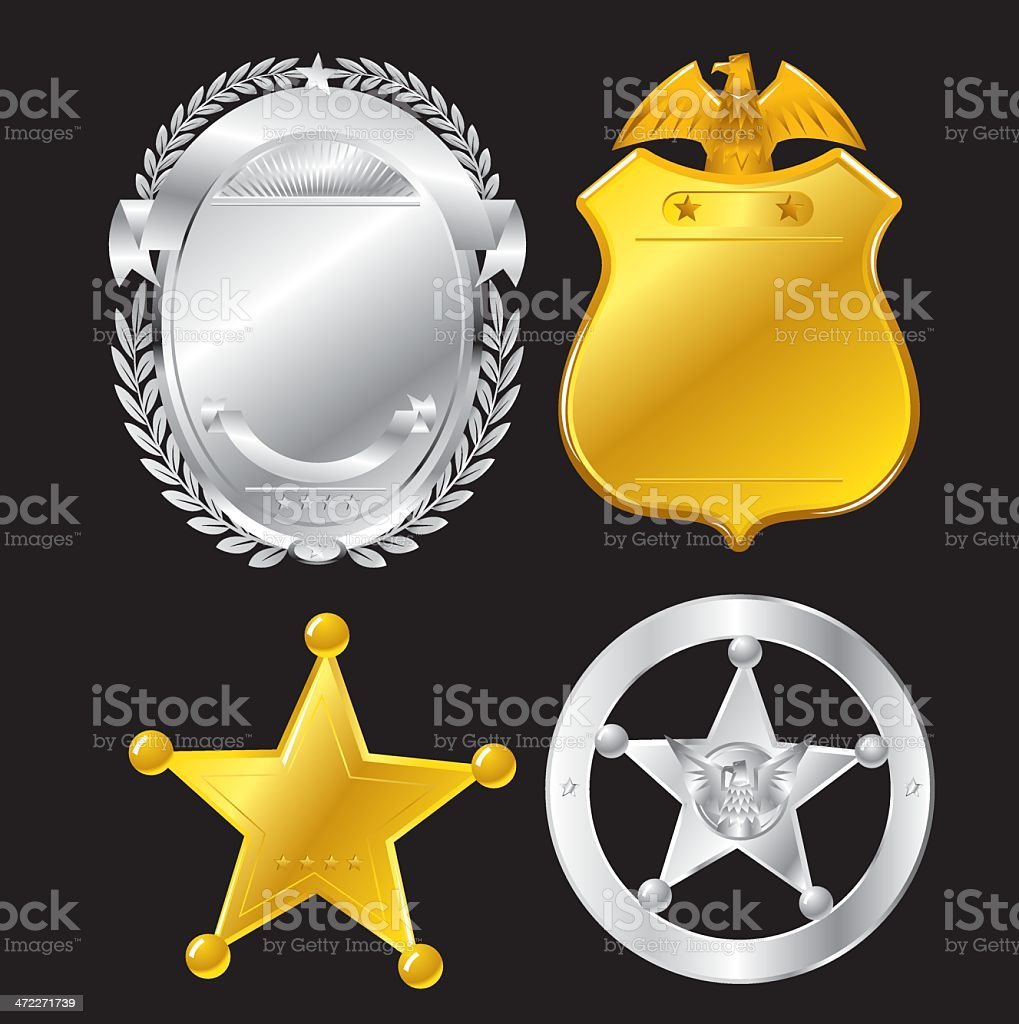 The Law Icons vector art illustration