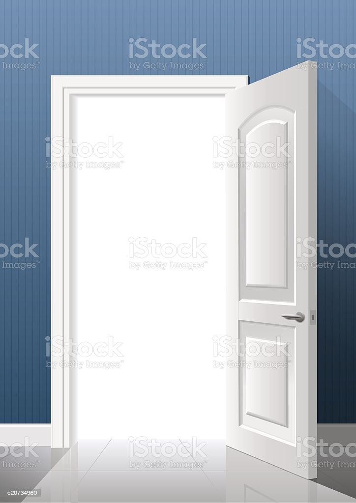 The light from the door vector art illustration