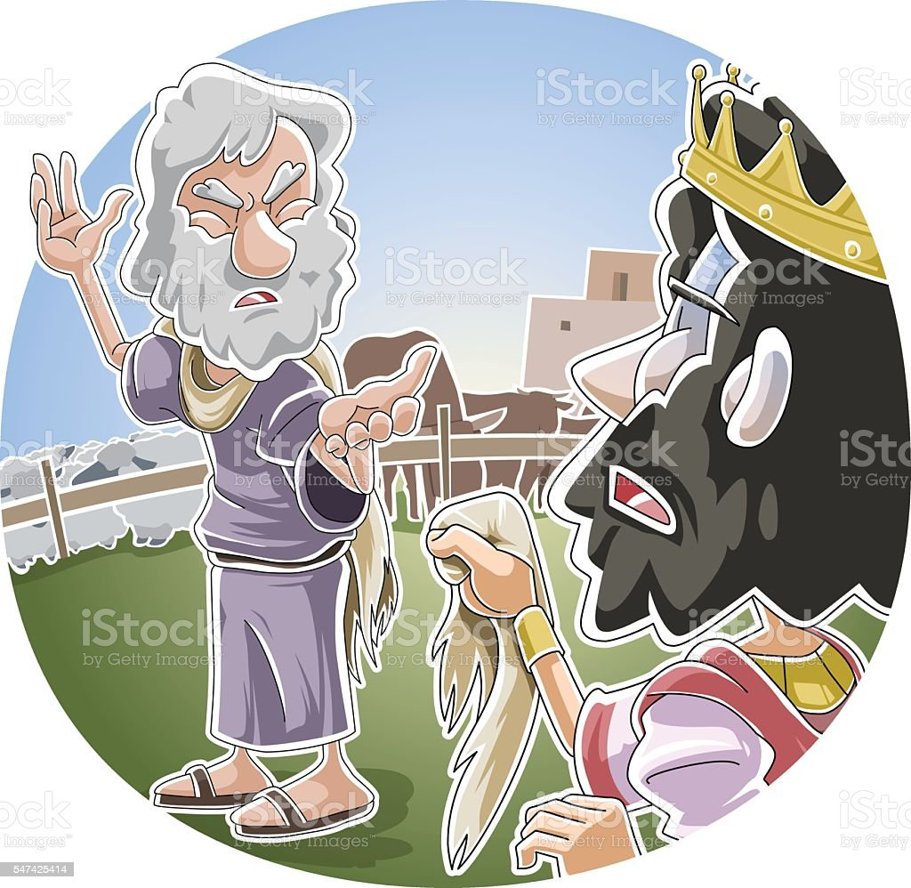 The Lord rejects Saul as king vector art illustration