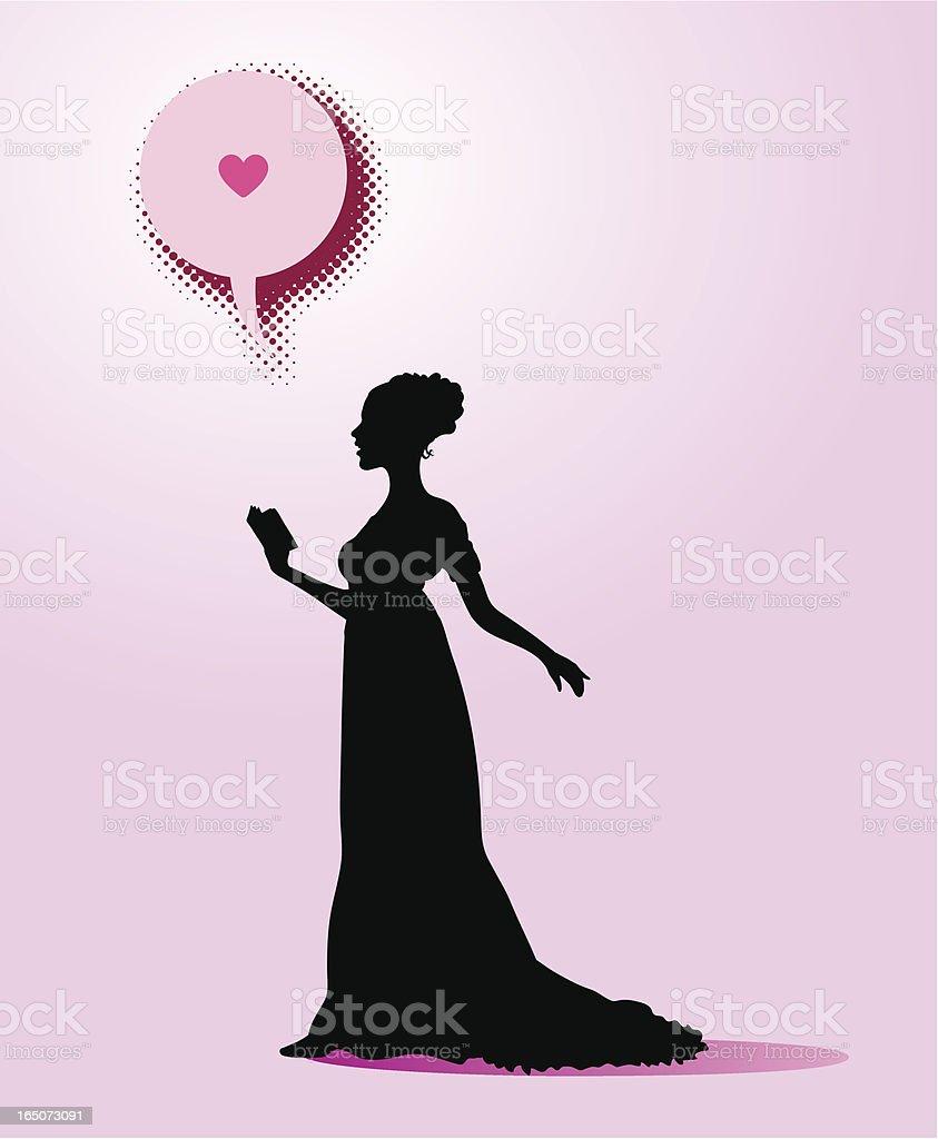 the love poem royalty-free stock vector art