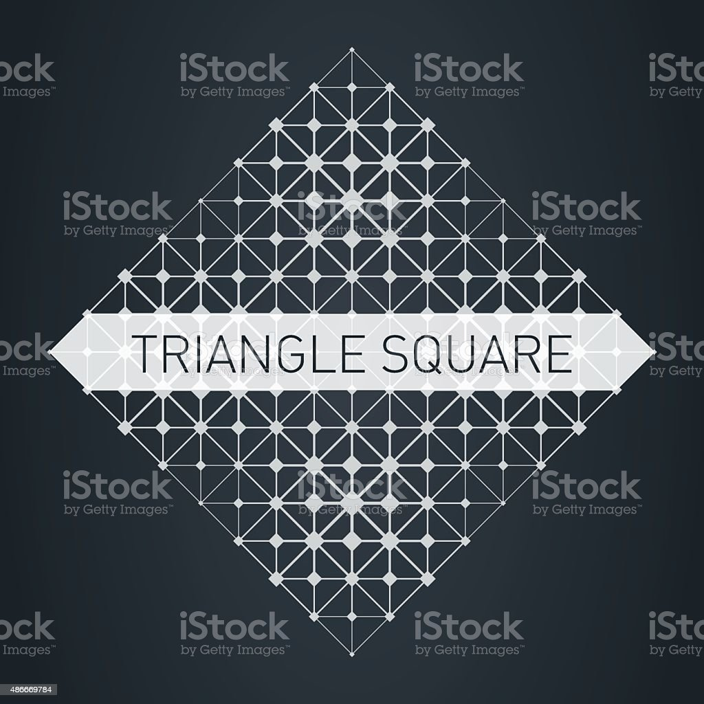 The low-poly mesh. Modern stylish logo. Design element vector art illustration