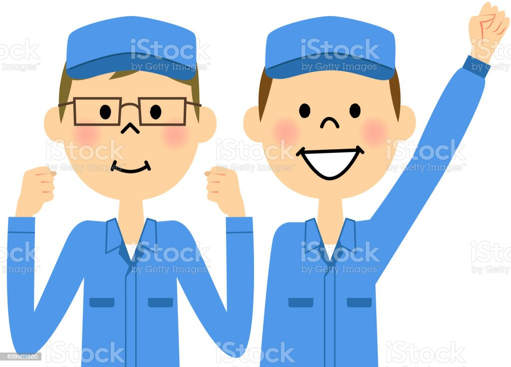 The male of the work arrive,Colleague vector art illustration