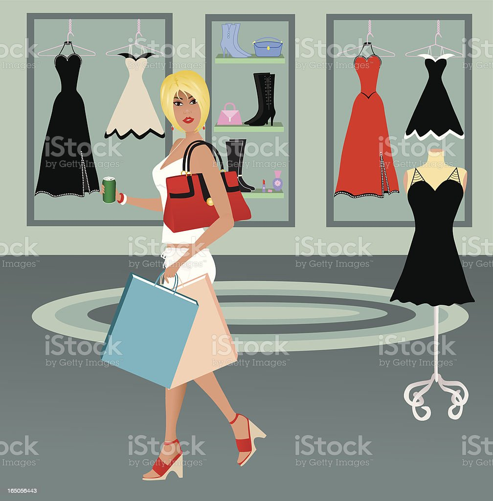 The Mall royalty-free stock vector art