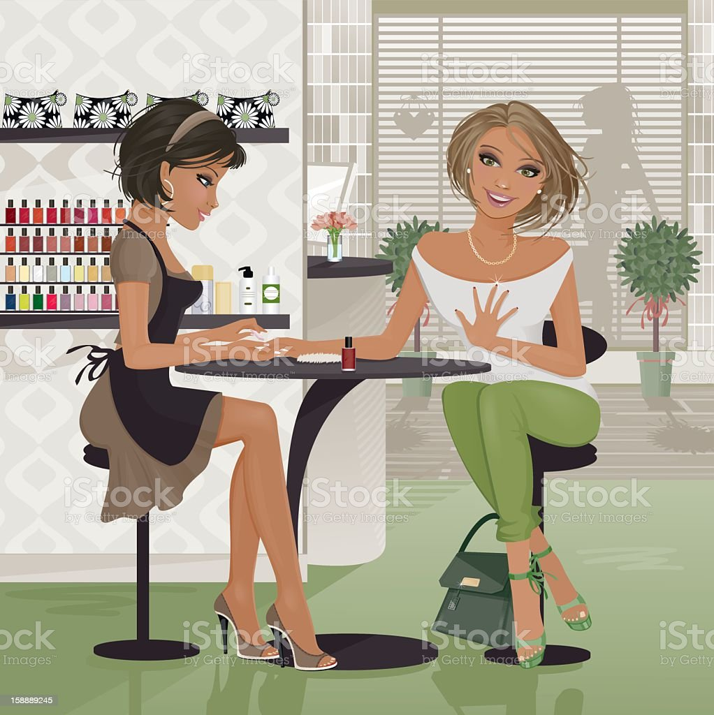 The Manicure vector art illustration