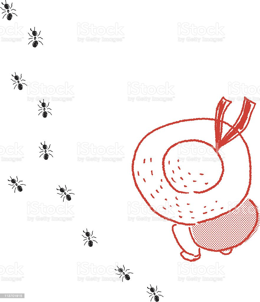 The march of ant royalty-free stock vector art