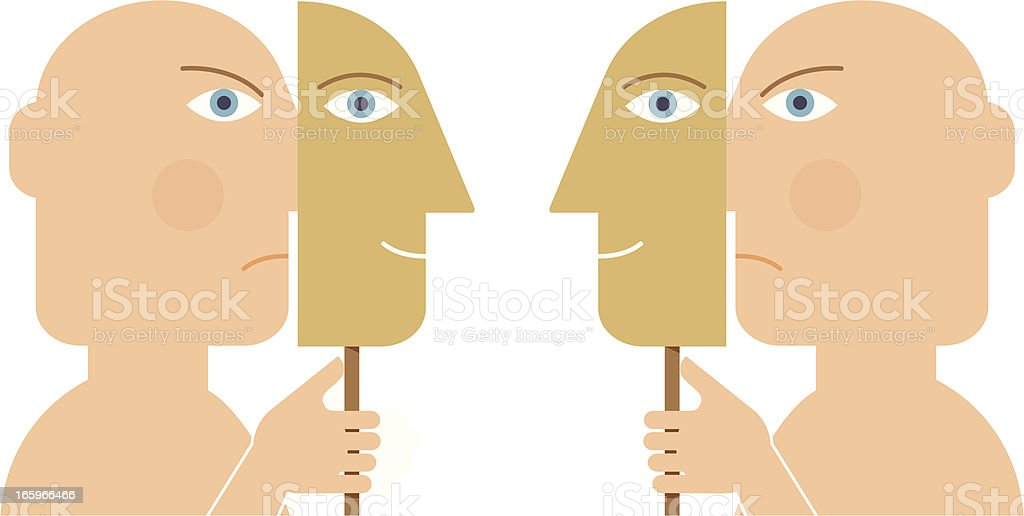 The mask vector art illustration