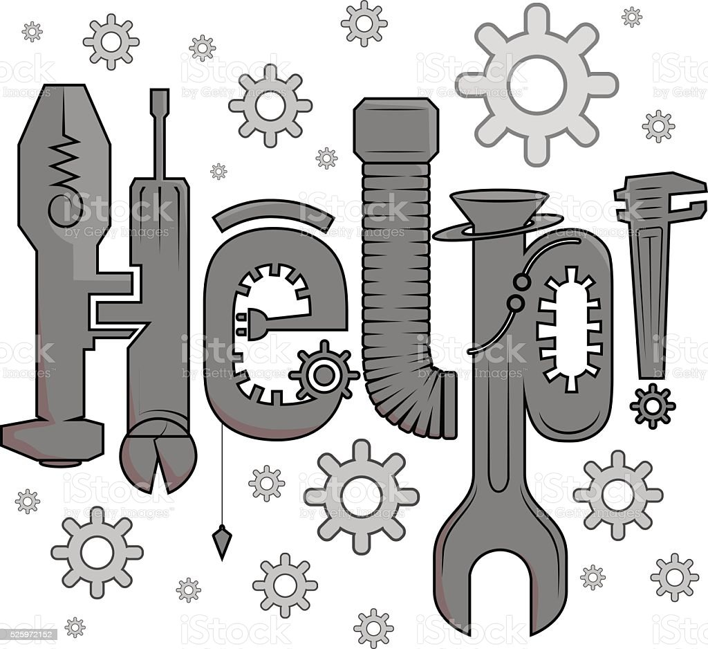The Mechanic vector art illustration