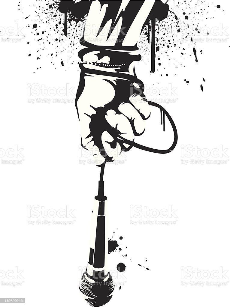 The Mic is Mine vector art illustration