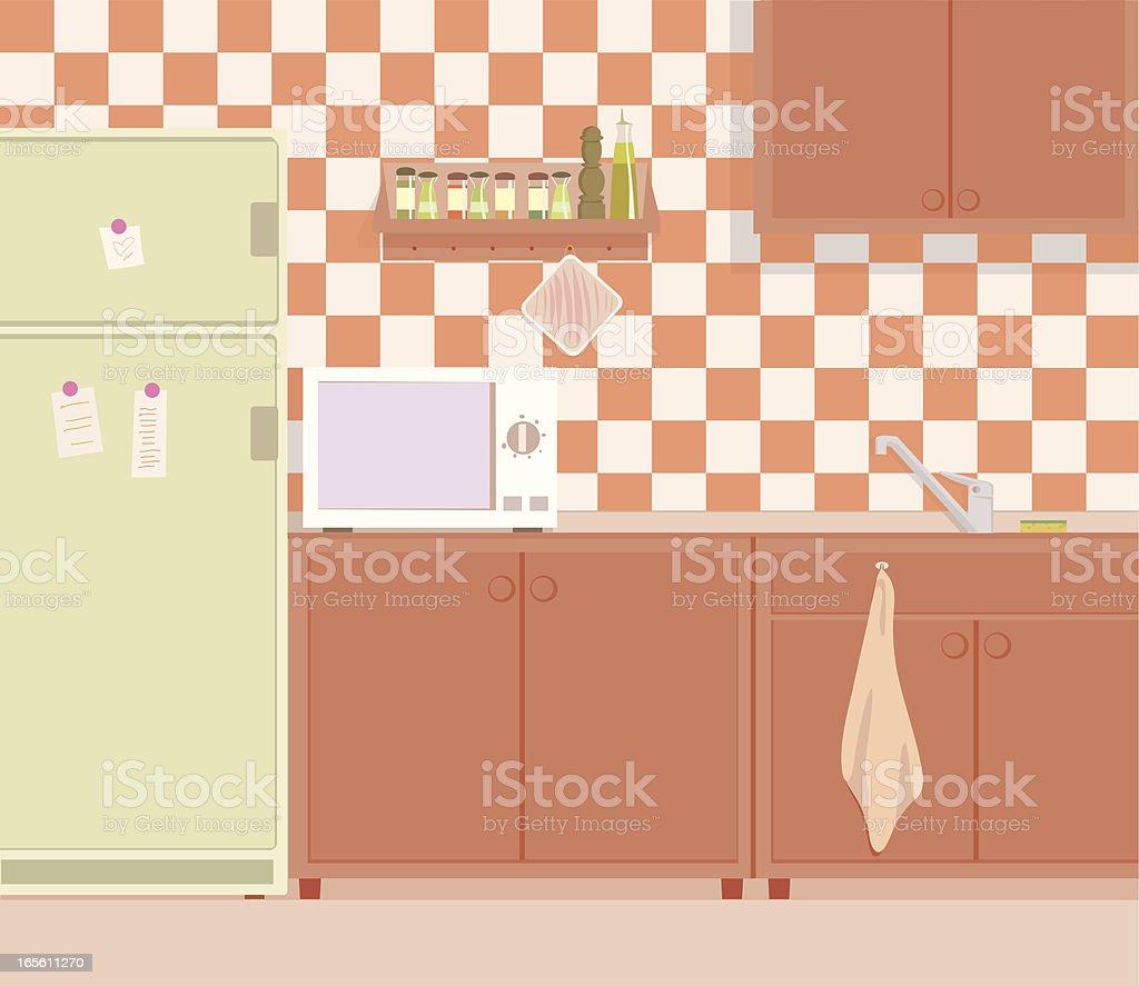 The Microwave Kitchen vector art illustration