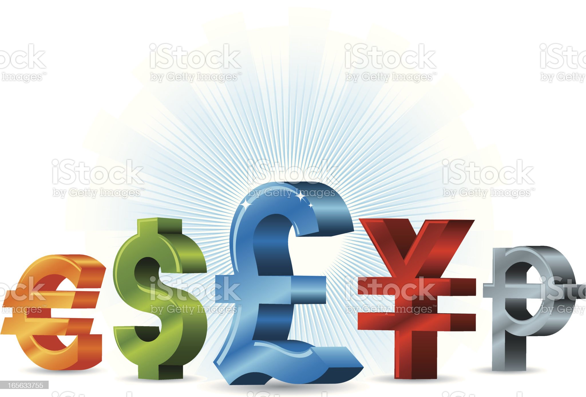 The Mighty Pound royalty-free stock vector art