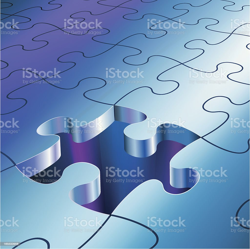 The Missing Piece royalty-free stock vector art
