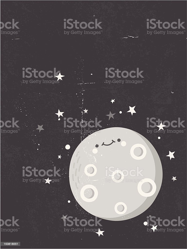 The moon and stars royalty-free stock vector art