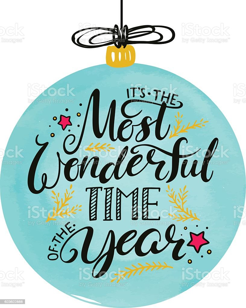 the most wonderful time of the year vector art illustration