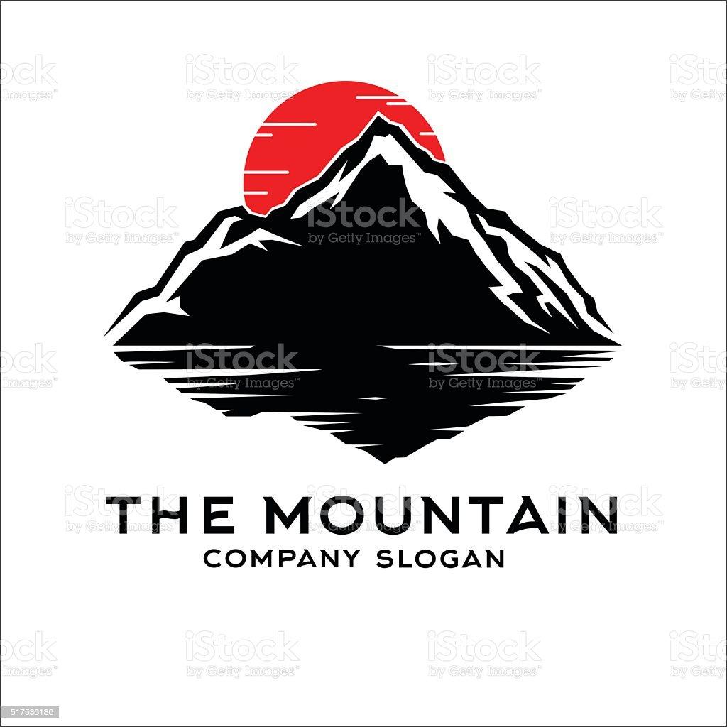 The mountain vector art illustration