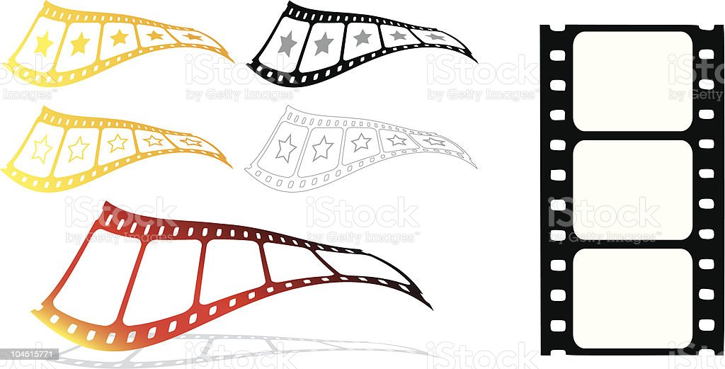 The movies 2 (Vector) royalty-free stock vector art