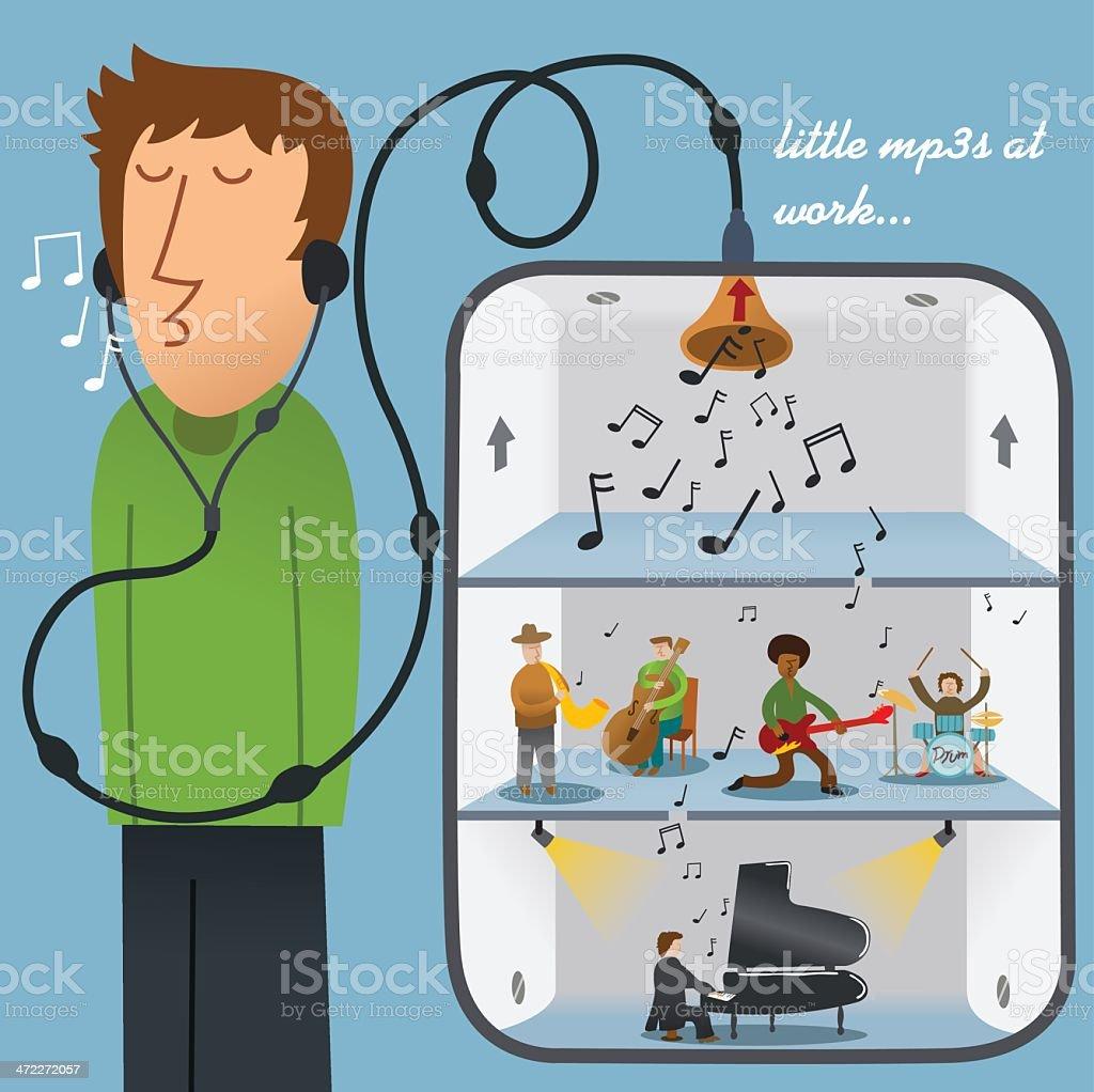 The Mysterious Music Box vector art illustration