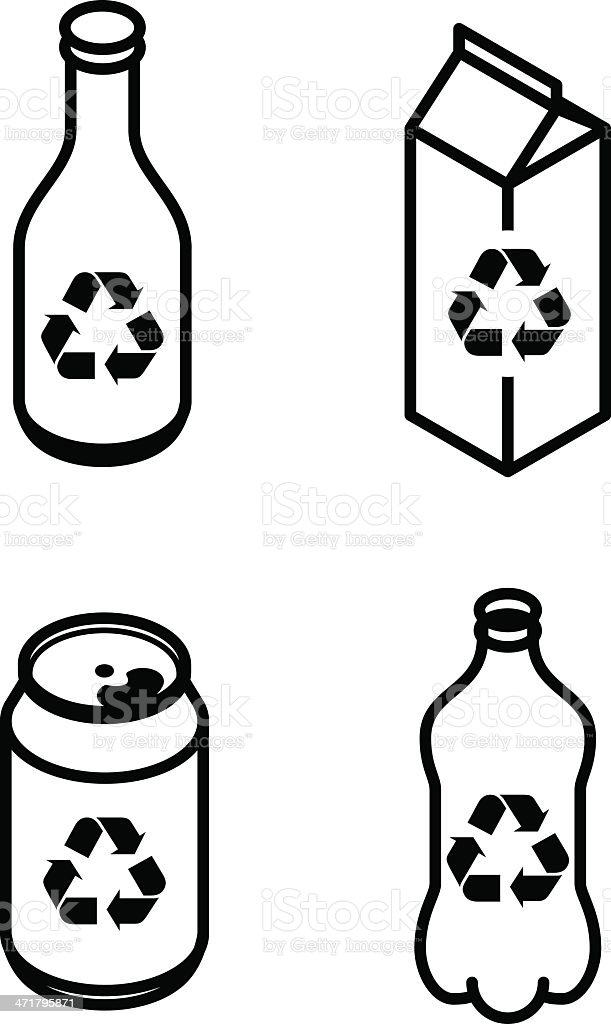 The new version of recycling icons royalty-free stock vector art