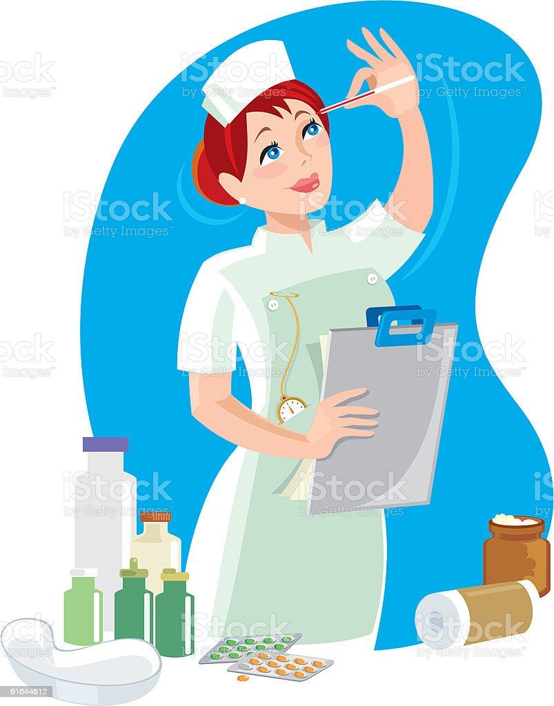 The Nurse vector art illustration
