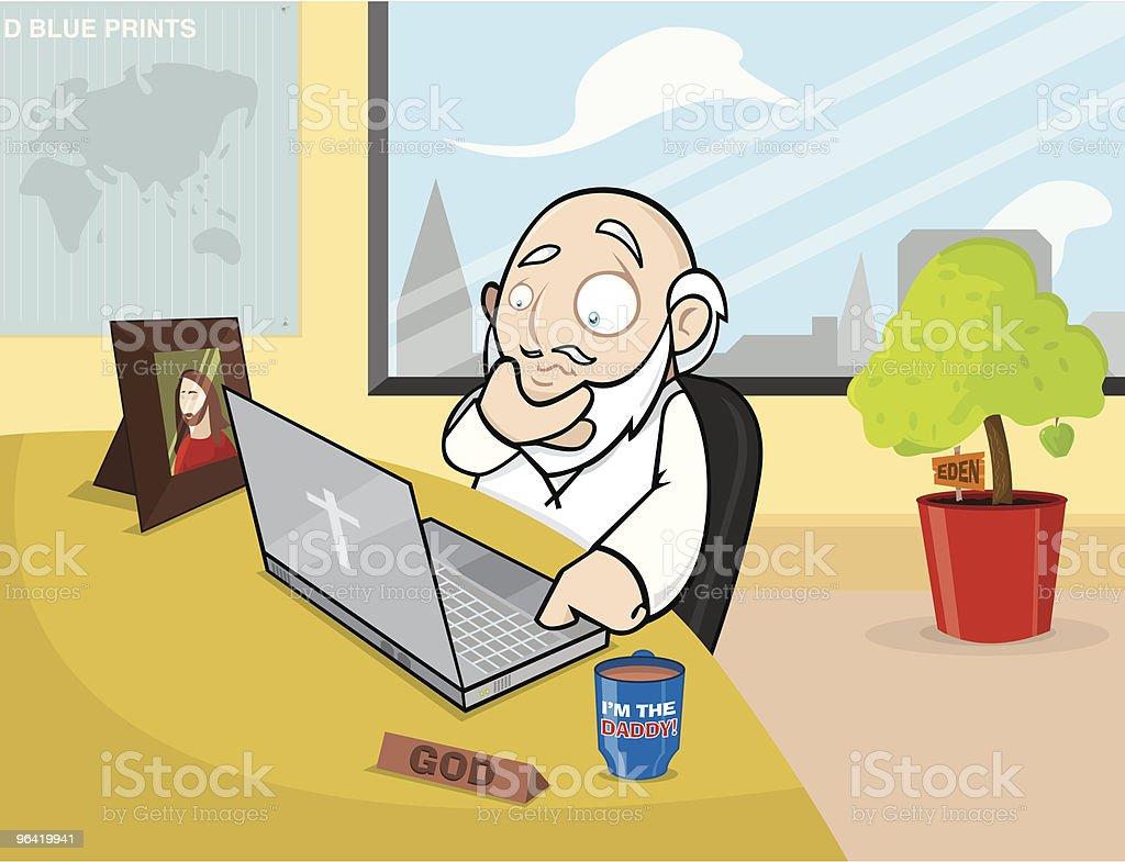 The Office God royalty-free stock vector art