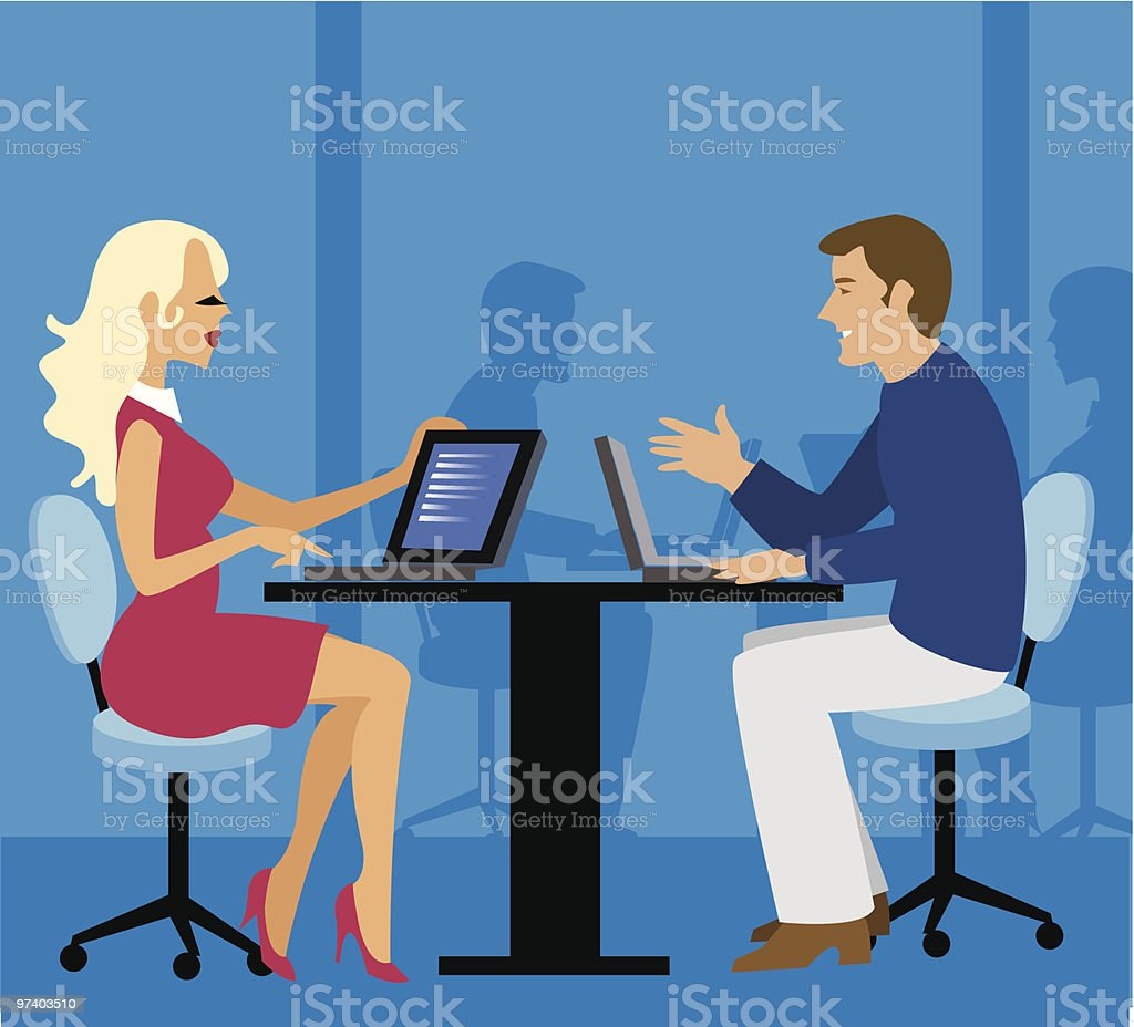 The office royalty-free stock vector art