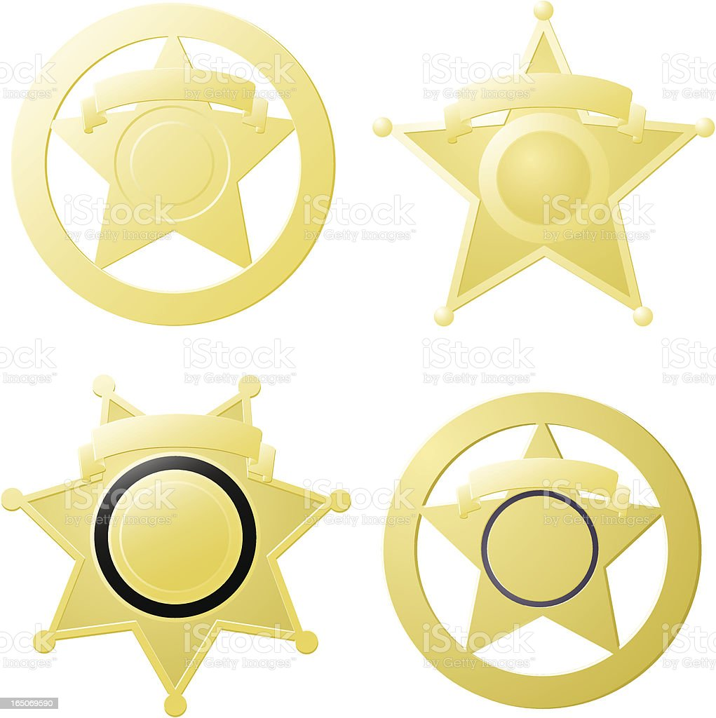 The Ol' Tin Star vector art illustration