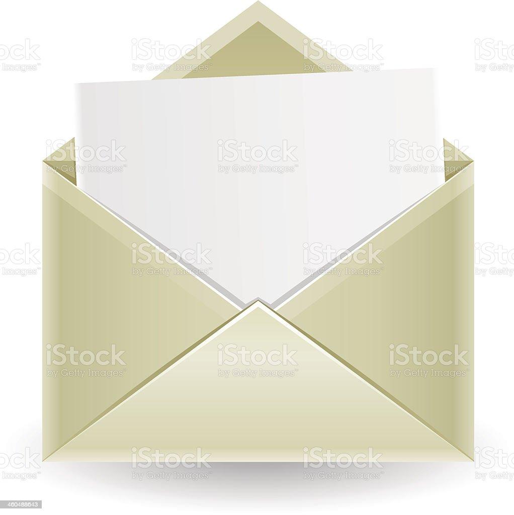 The opened envelope vector art illustration