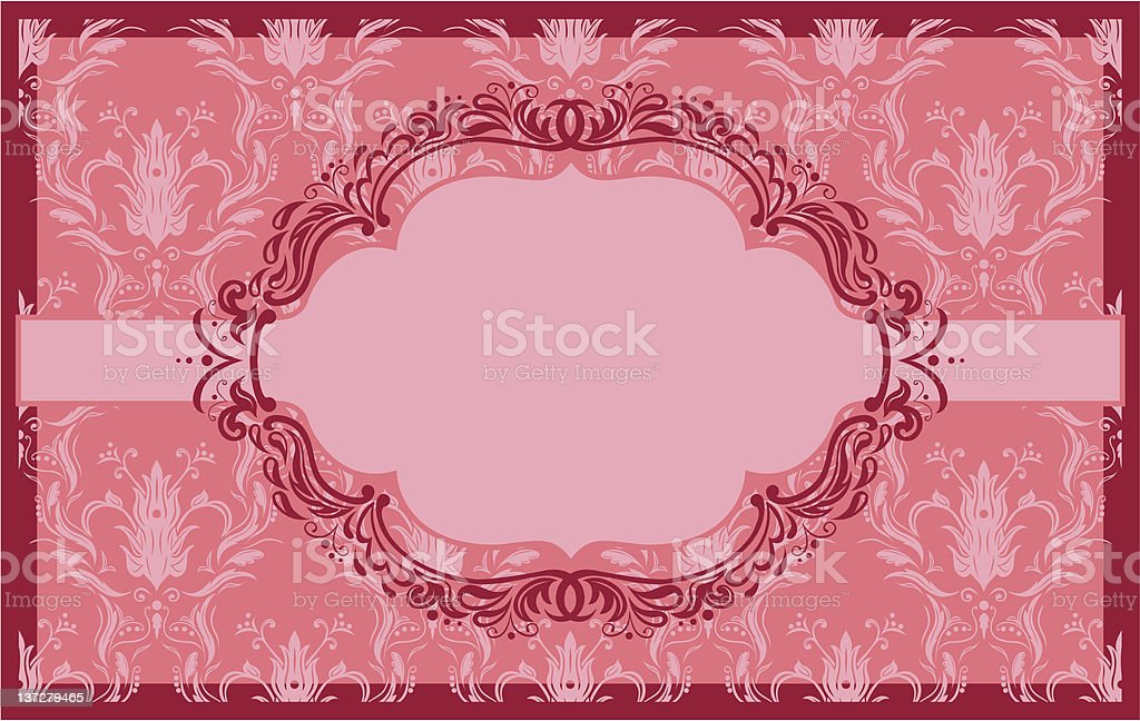 The original banner and frame. royalty-free stock vector art
