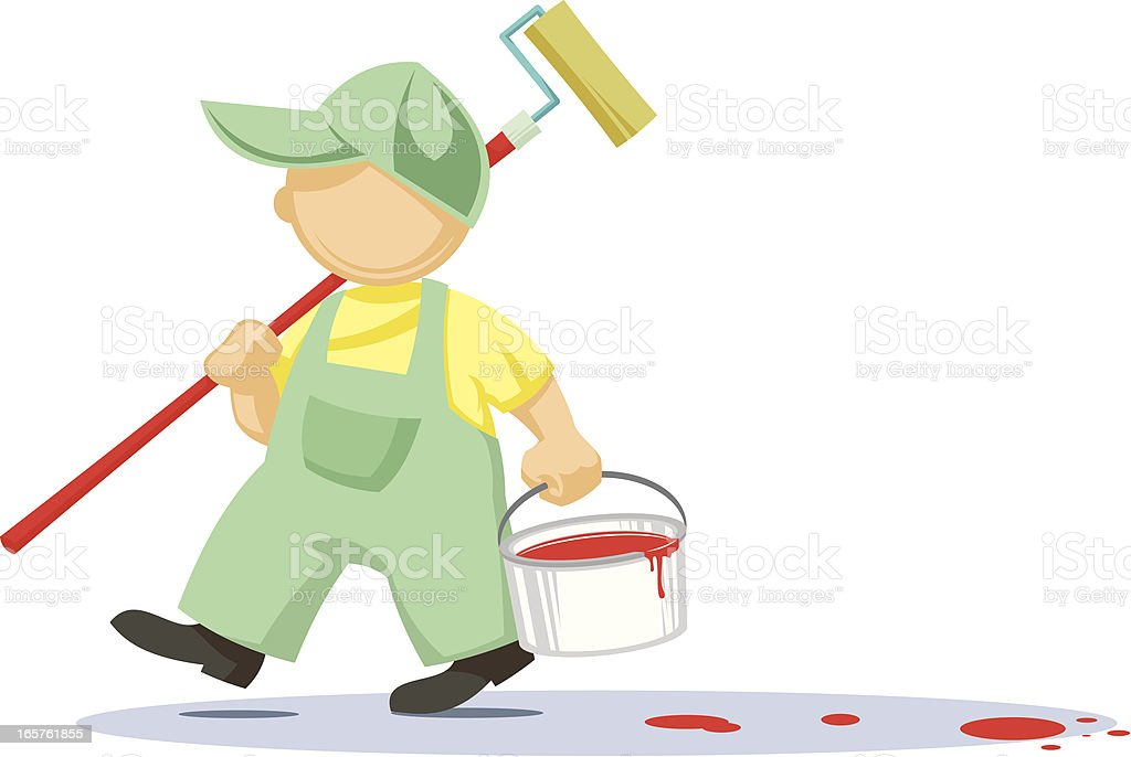 The painter at work royalty-free stock vector art
