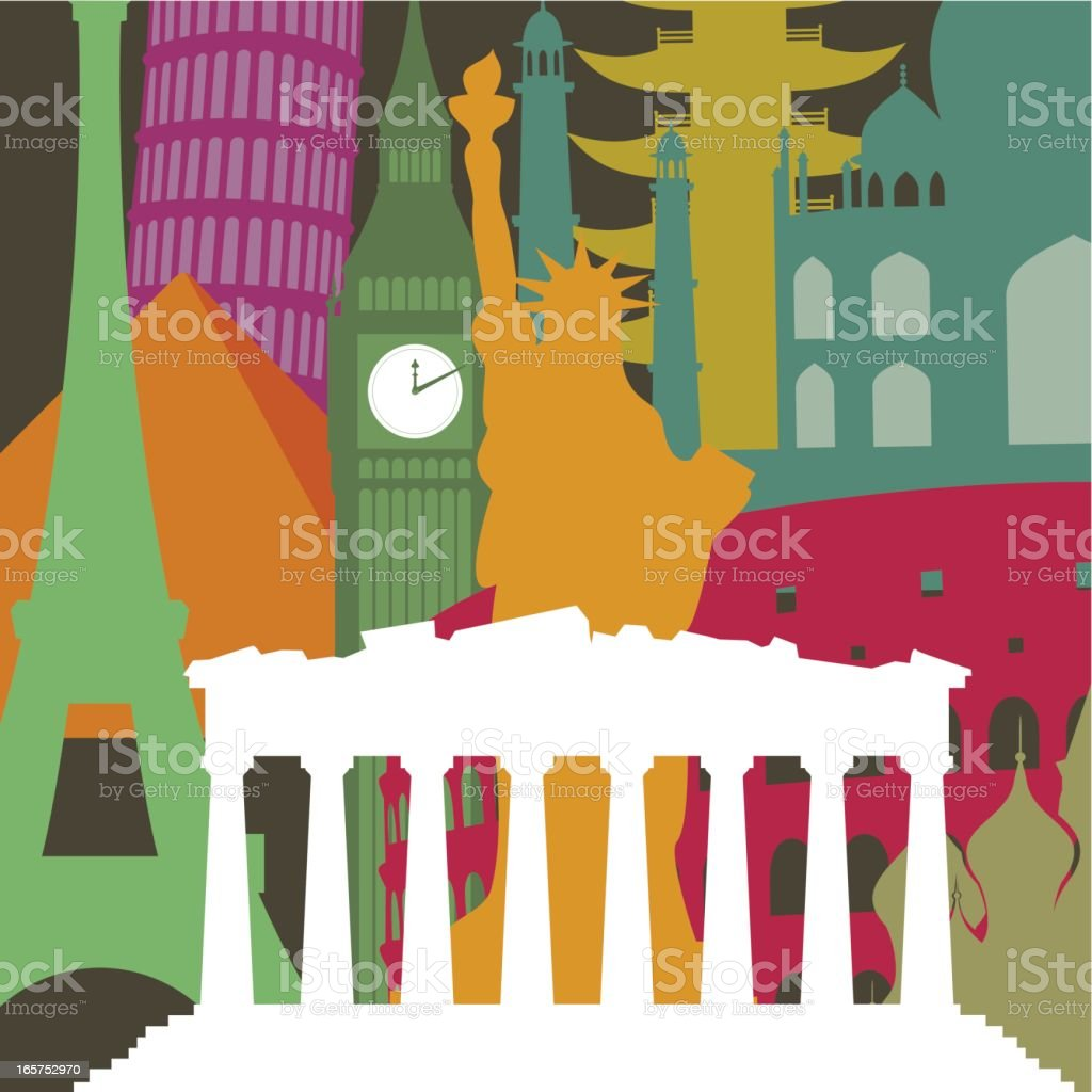 The Parthenon royalty-free stock vector art
