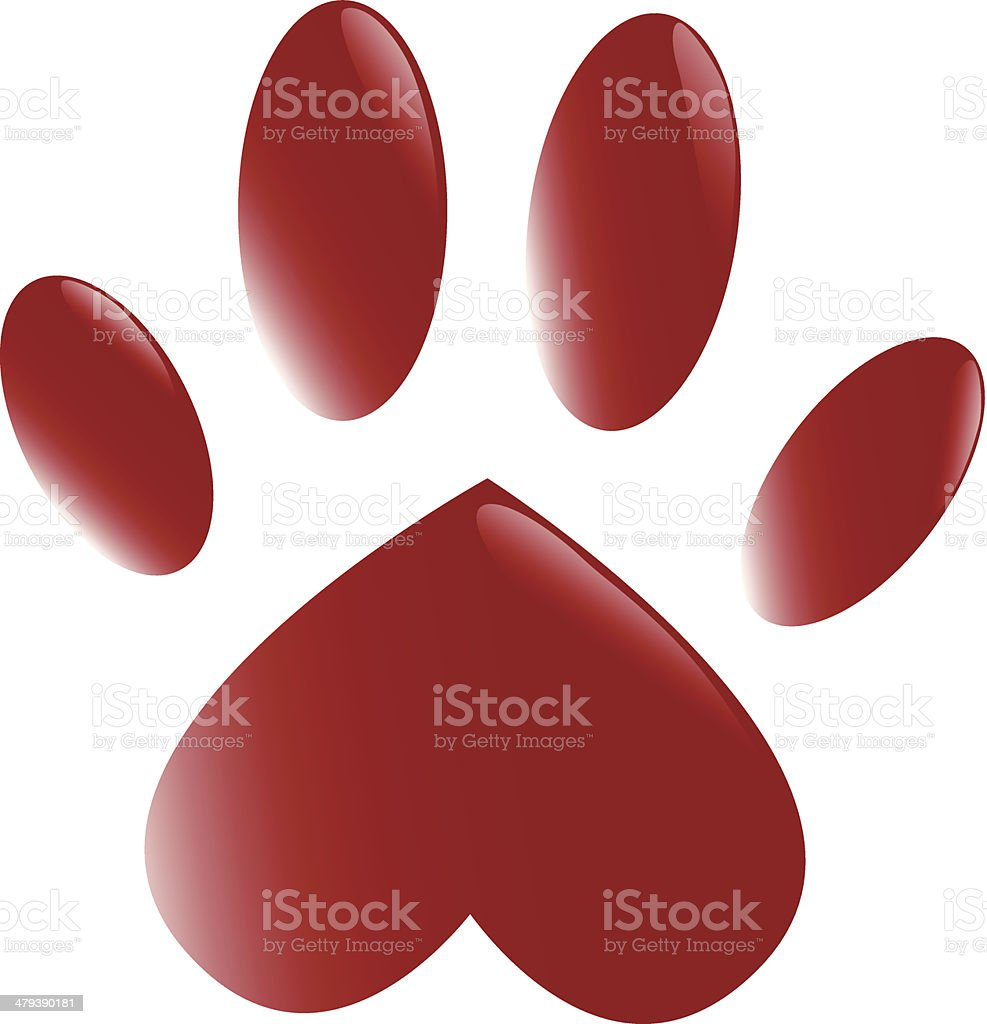 The paw vector art illustration