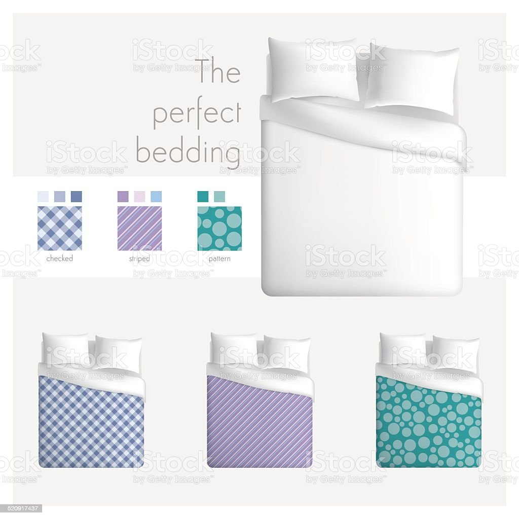The perfect bedding vector art illustration