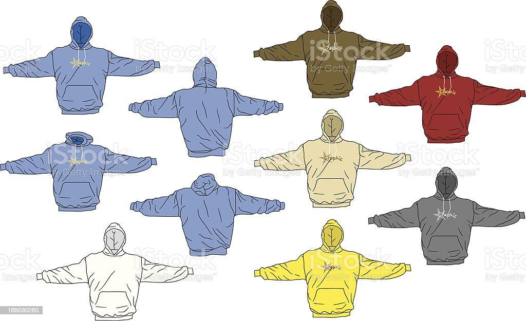 The Perfect Hoodie (sweatshirt) vector art illustration
