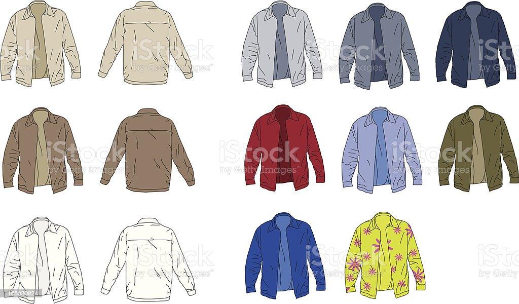 The Perfect Jacket vector art illustration