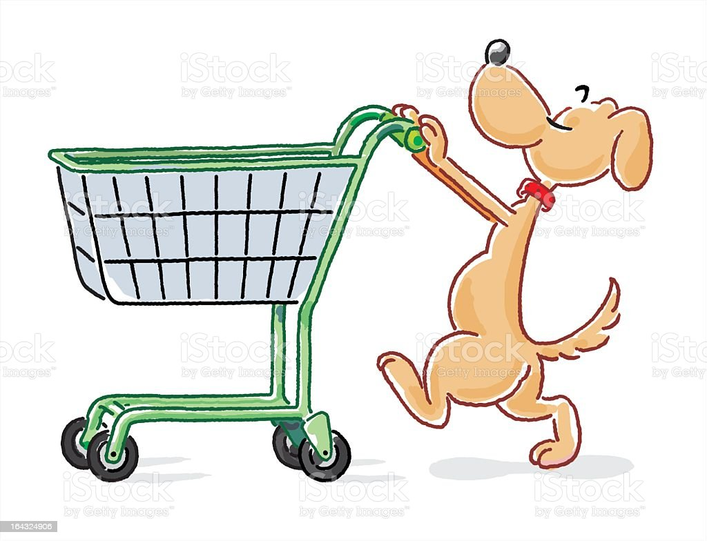The Pet Shopping royalty-free stock vector art