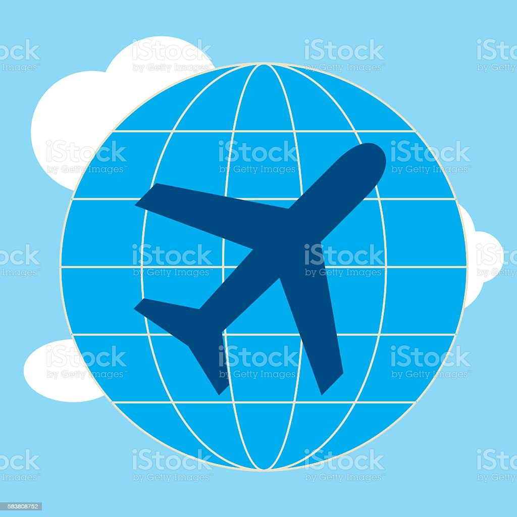 the plane vector art illustration