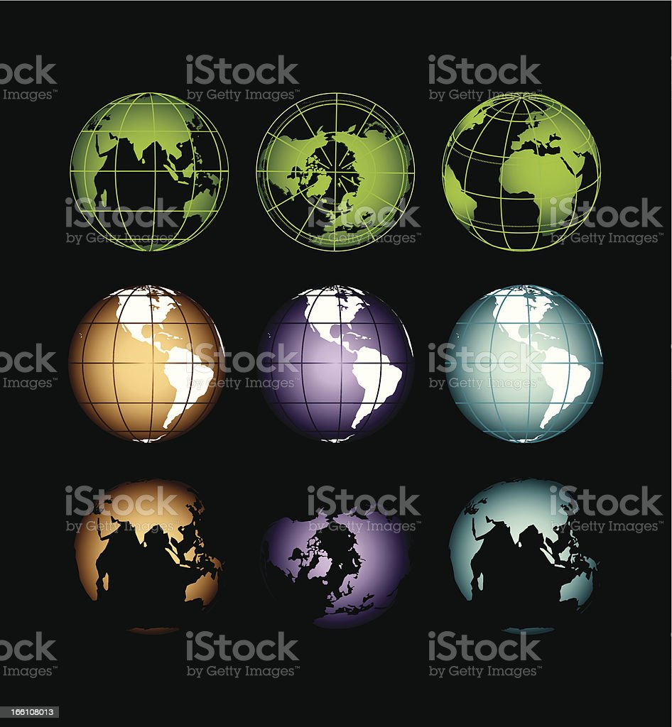 the planet Earth from a different angle royalty-free stock vector art