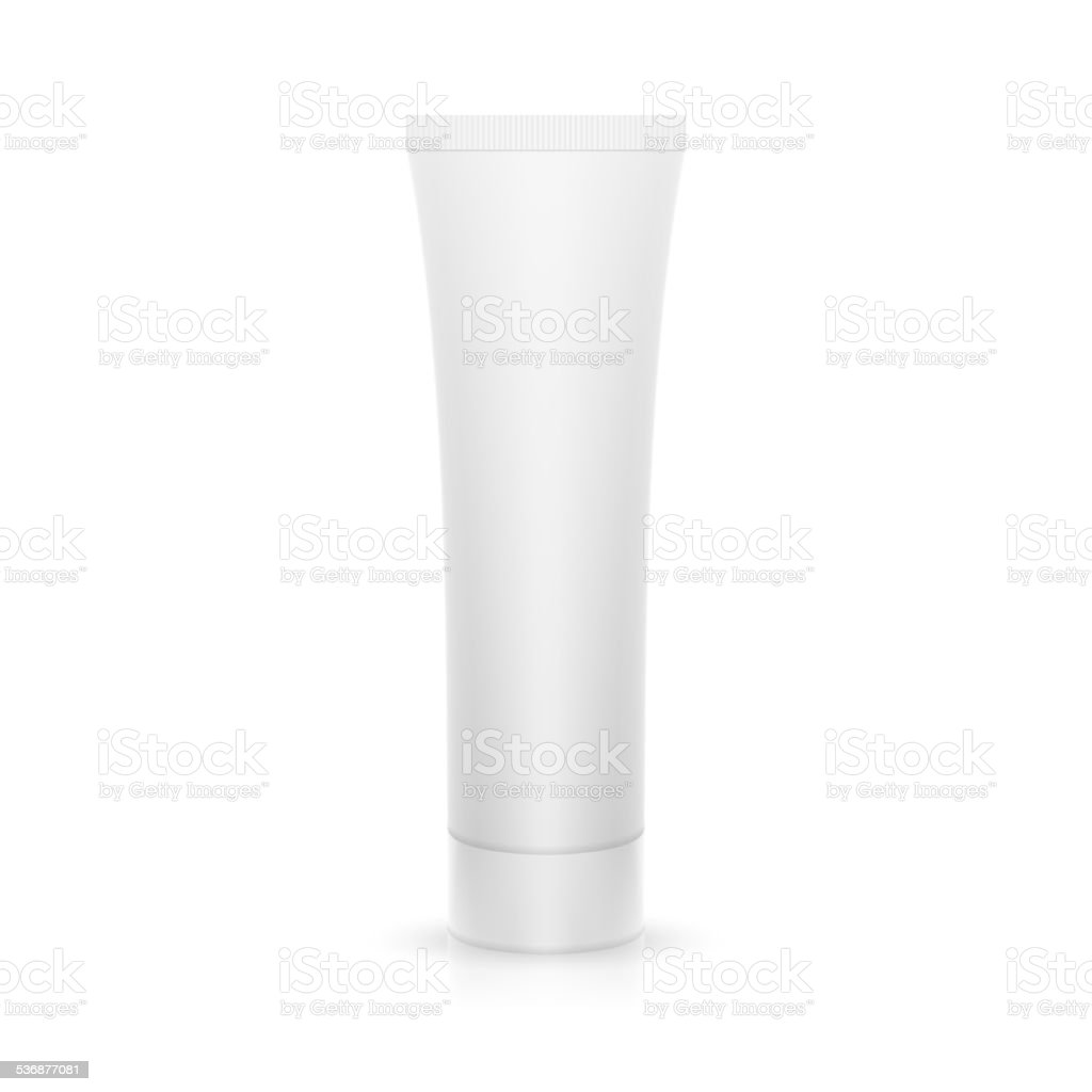 The plastic tube on glossy surface vector art illustration