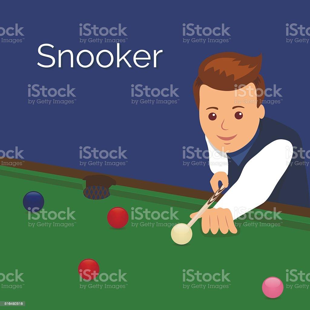 The player billiards. vector art illustration