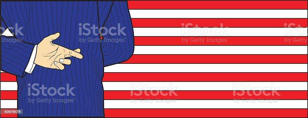 The Politician vector art illustration