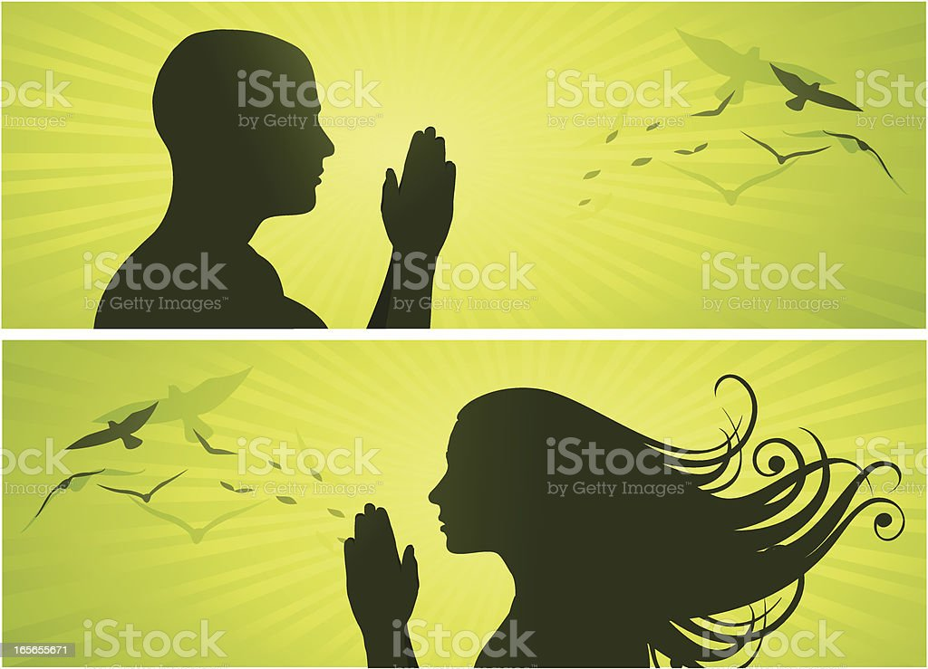 The Prayer royalty-free stock vector art