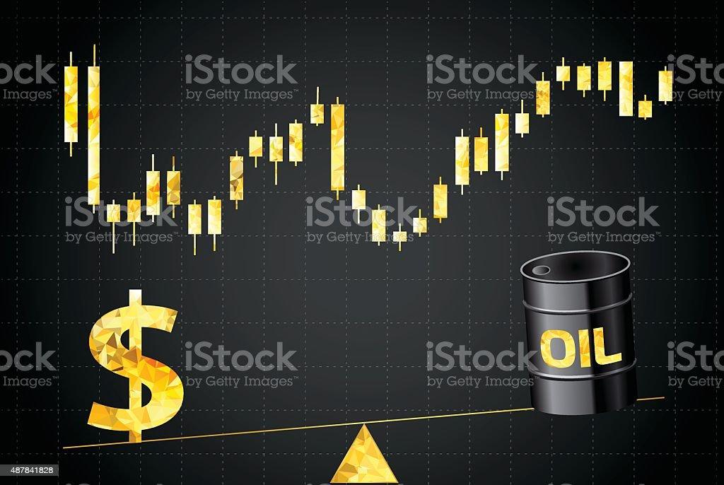 The price of oil vector art illustration