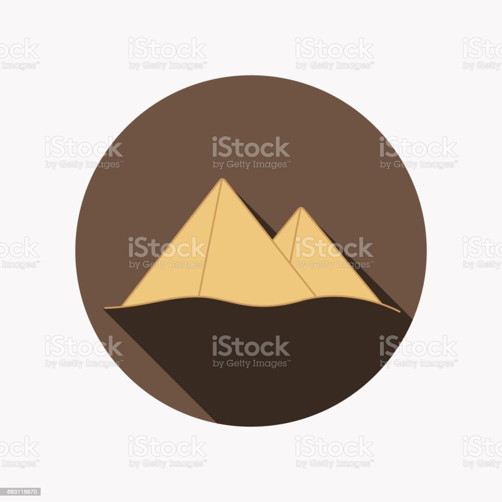 The pyramids at Giza in Egypt vector art illustration