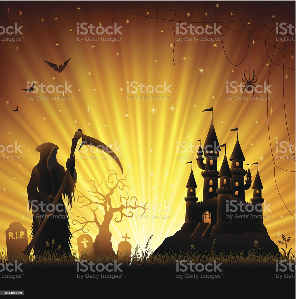 The Reaper royalty-free stock vector art