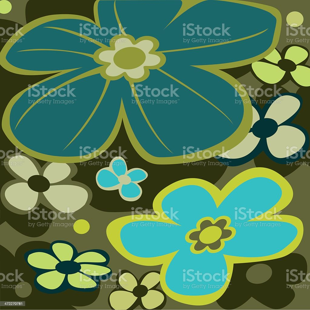 The return of blue flowers royalty-free stock vector art