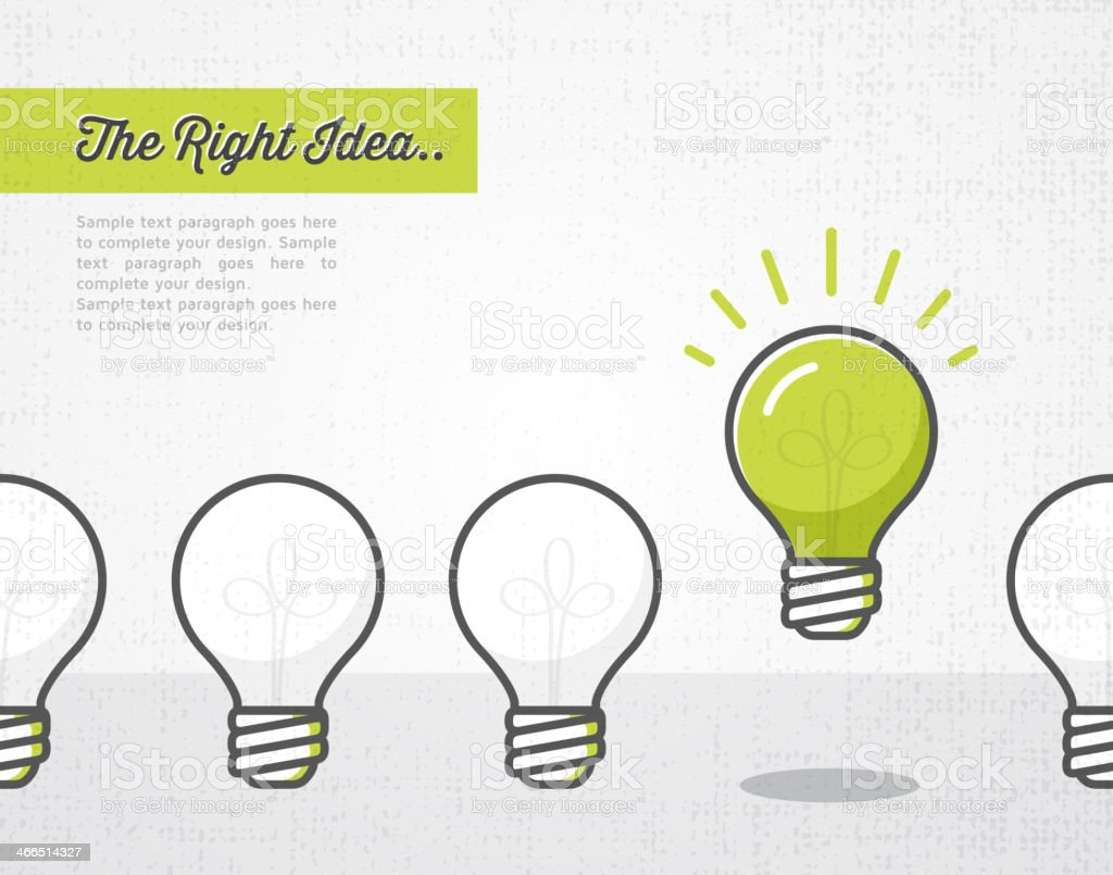 The right idea vector art illustration