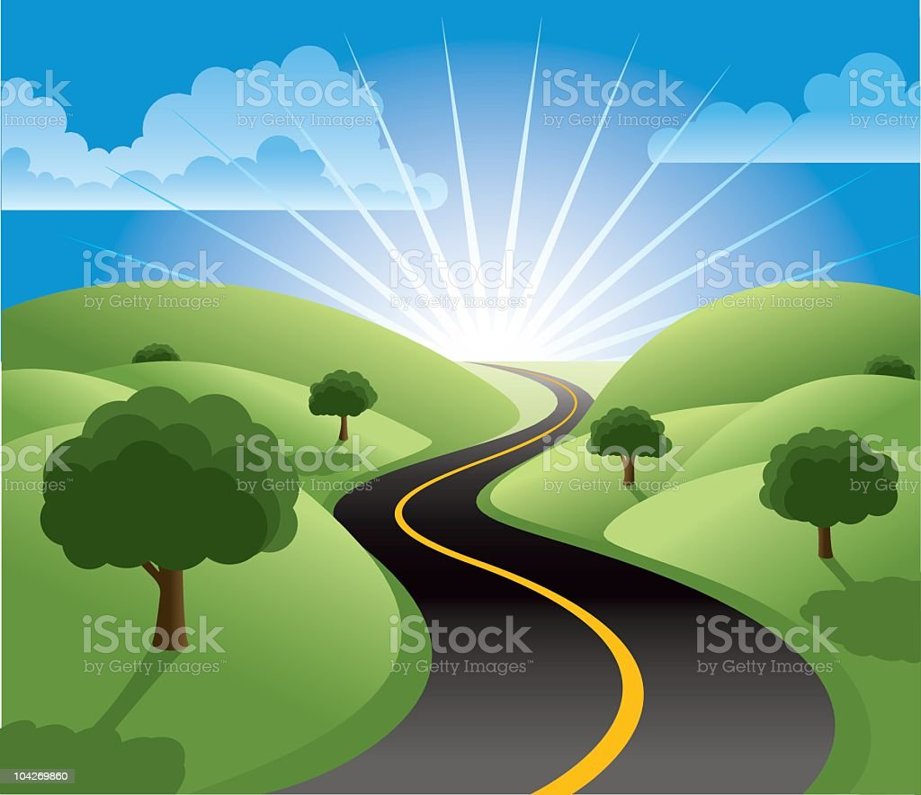 The Road to Prosperity vector art illustration