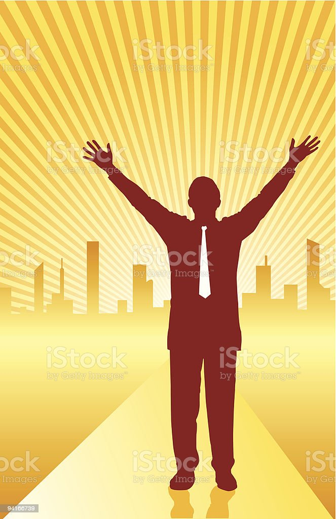 The Road to Success vector art illustration