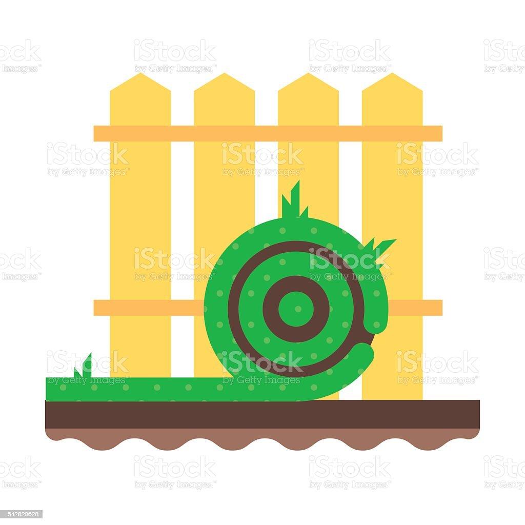 The roll green grass lawn vector art illustration