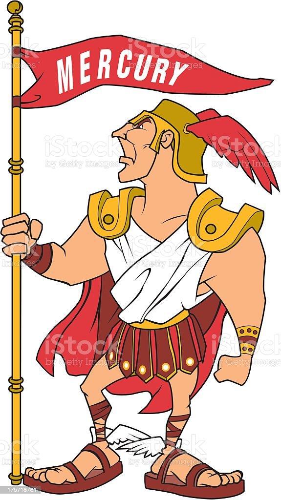 The Roman God Mercury royalty-free stock vector art