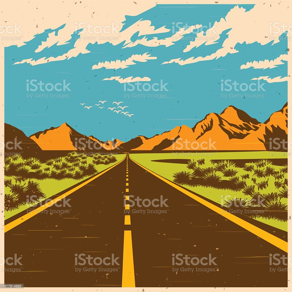 the route vector art illustration